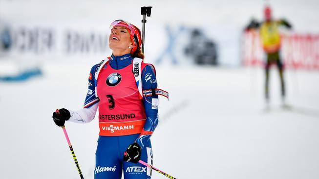 Gabriela Koukalová si vychutnává první vítězství v letošní sezoně