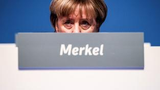 Kancléřka Merkelová na sjezdu CDU
