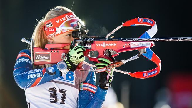 Eva Puskarčíková dosáhla v Pokljuce poprvé v kariéře na stupně vítězů