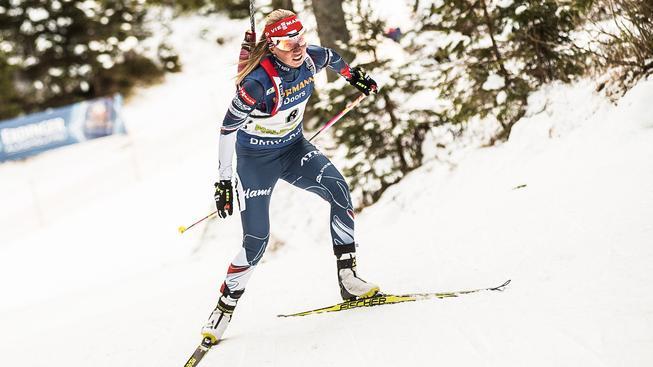 Eva Puskarčíková rozjížděla českou štafetu, která nakonec skončila těsně pod stupni vítězů