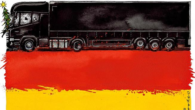 Ilustrace Petera Brookese pro The Times