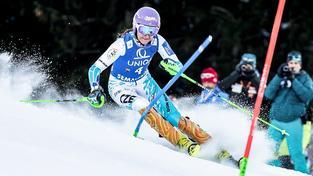 Strachová byla ve všech čtyřech slalomech sezony mezi nejlepšími deseti