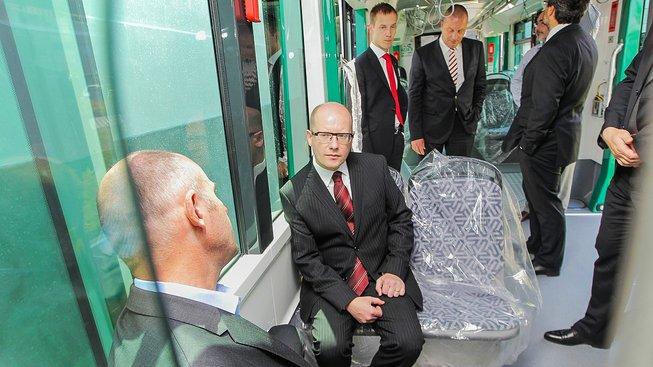 Návštěva premiéra Bohuslava Sobotky v plzeňské Škodě Transportation
