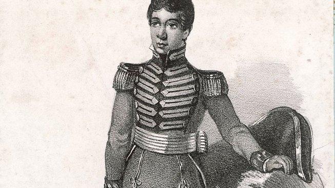Madagaskarský panovník Radama I., kterého si český botanik naklonil hrou na evropské nástroje
