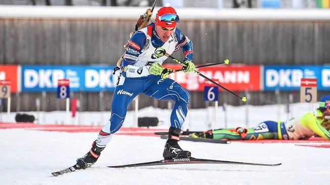 Michal Krčmář byl ve sprintu v německém Ruhpoldingu nejlepší z Čechů