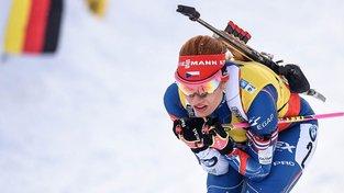 Gabriela Koukalová měla sice druhý nejlepší běžecký čas, ale zradila ji střelba