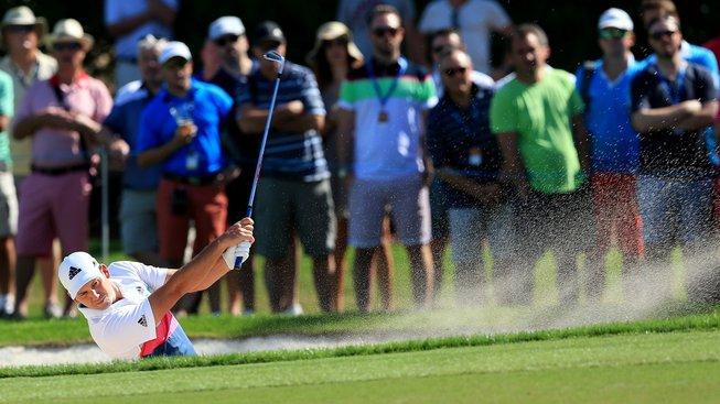 Španělský golfista Sergio García získal na originálním způsobem na jeden den nového caddyho z řad fanoušků