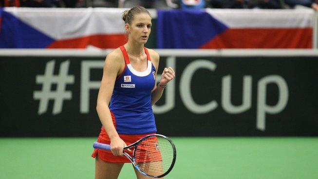 Karolína Plíšková smetla španělskou jedničku a příbližila český tým postupu ve Fed Cupu