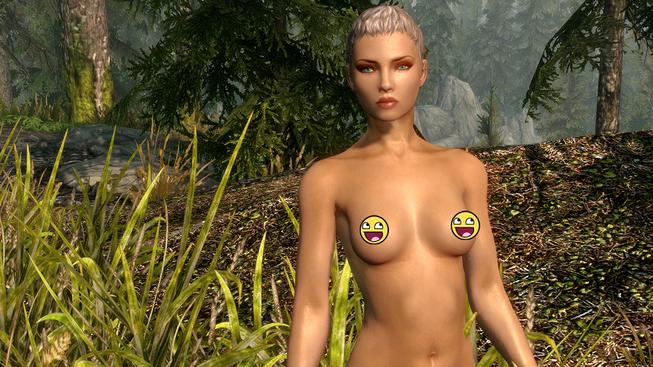 Skyrim nude female