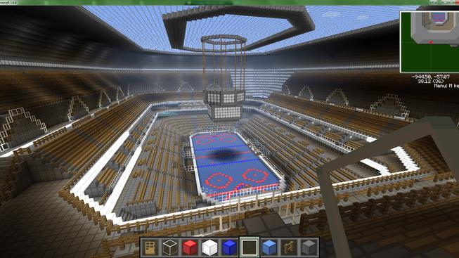 Jak se staví hokejový stadion v Minecraftu