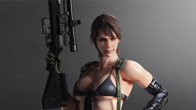 Figurka Quiet z Metal Gearu má mačkací prsa