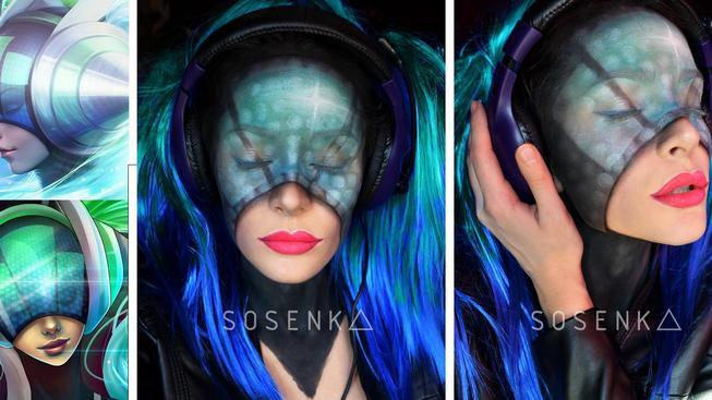 Podívejte se na cosplayerku, která se dokáže proměnit v kohokoliv pouze pomocí štětce