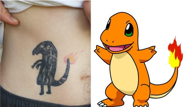 Tetování Charmandera, které se stalo na internetu fenoménem