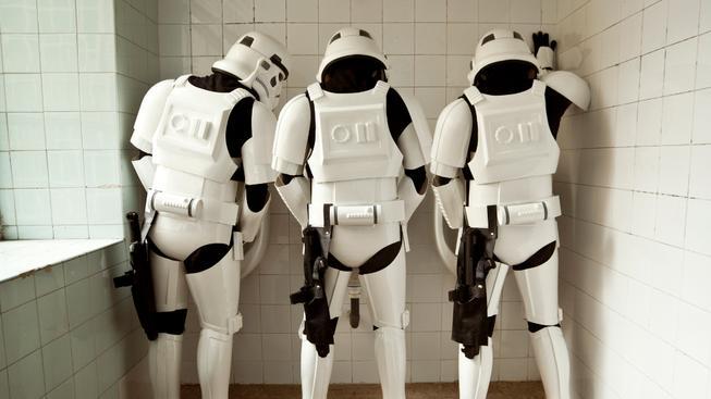 Série fotografií ukazuje Stormtroopery v běžném životě