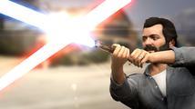 Epický souboj se světelnými meči v GTA V