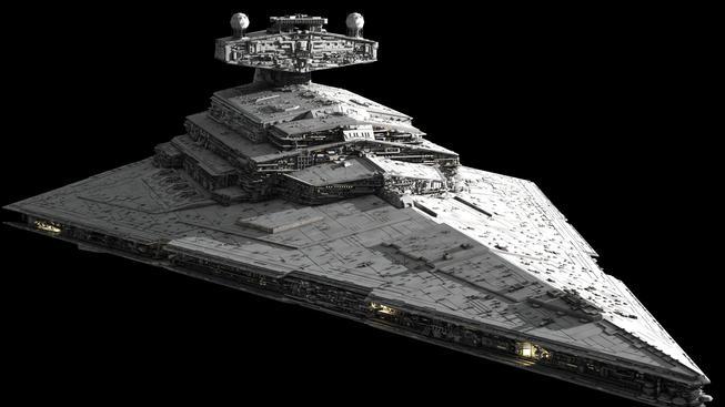 Fandové postavili přes čtyři metry velký model lodi Star Destroyer, co létá