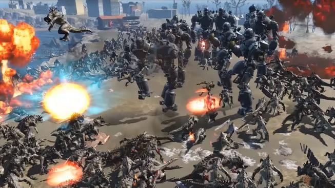 Epická bitva jednoho tisíce Deathclaw proti deseti Liberty Prime ve Fallout 4
