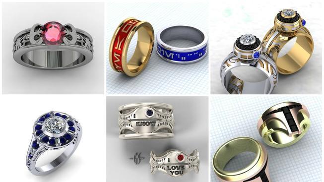 Prsteny se Star Wars tématikou - dokonalé šperky pro každého geeka