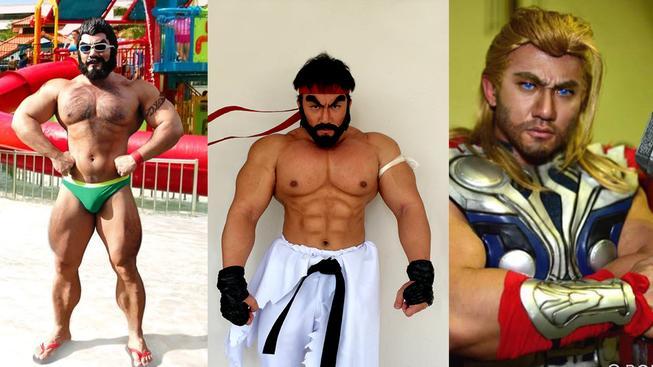 Tenhle svalnatec to myslí s cosplayem vážně! Nabušené tělo mu pomáhá ke slávě.