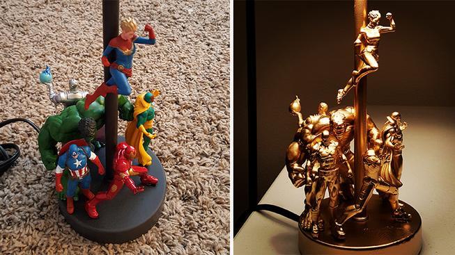 Udělejte si ze staré lampy skvělý doplněk v superhrdinském stylu