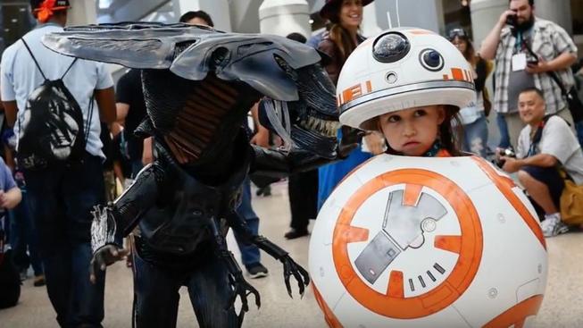 Tohle je snad ten nejroztomilejší cosplay široko daleko – malá holčička jako BB-8