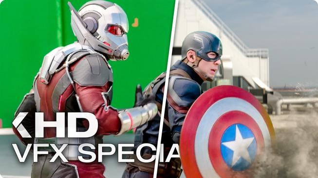 Podívejte se jak se natáčely akční scény z filmu Captain America: Občanská válka
