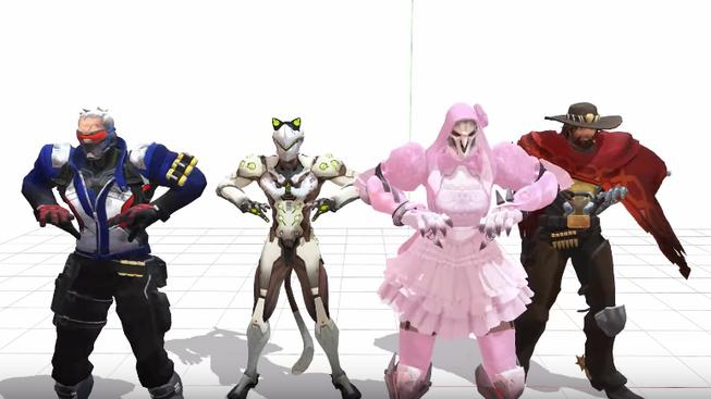 Reaper v roztomilých šatičkách a další hrdinové z Overwatch tancují na Taylor Swift