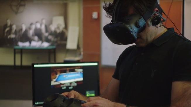 Jeden z nejlepších světových hráčů kulečníku si nabil nos, když hrál kulečník ve virtuální realitě