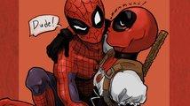 Deadpool a Spiderman se na Zlatých glóbech vášnivě políbili