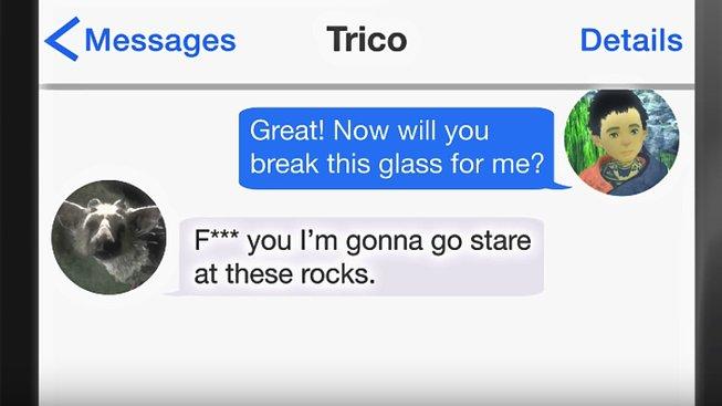 Kdyby si herní postavičky psali přes SMS!
