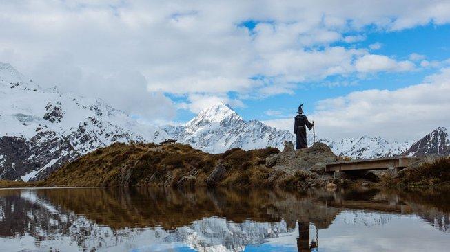 Úžasné fotky z Nového Zélandu v kostýmu Gandalfa