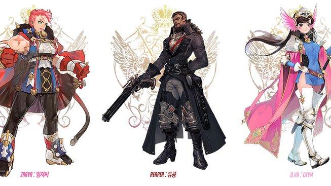 Hrdinové z Overwatch jako anime postavičky