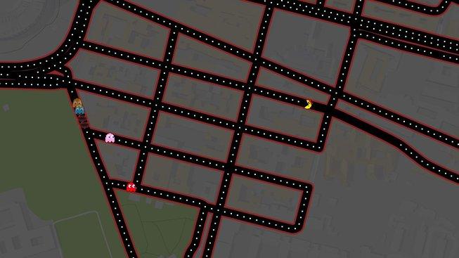 Zahrajte si hru Ms. Pac-Man v ulicích na Google Maps!