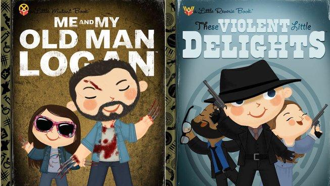 Logan, Suicide Squad a nebo Westworld jako knížky pro malé děti