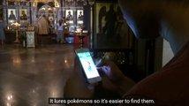 Vloger natočil v kostele chytání Pokémonů, nyní mu hrozí tři a půl roku vězení