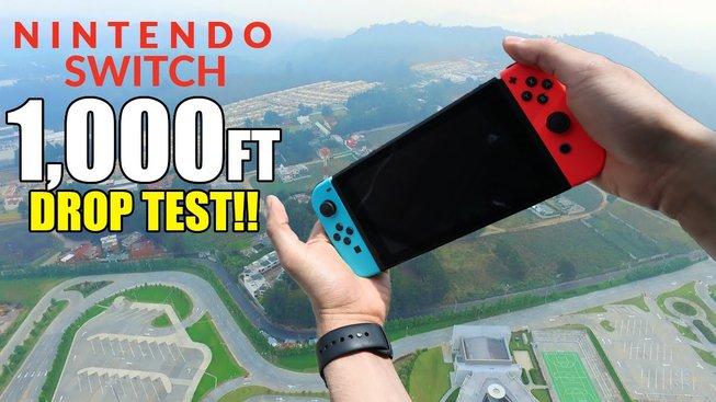 Dokáže přežít Nintendo Switch pád ze 300 metrů?