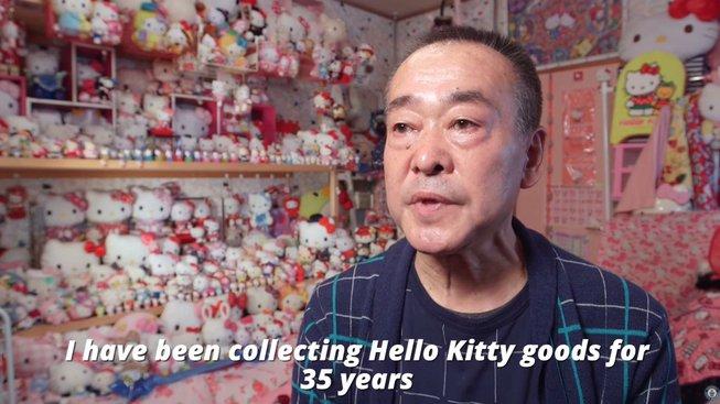 Největší sbírku Hello Kitty vlastní muž z Japonska