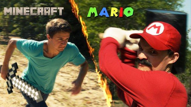 Ultimátní souboj mezi Stevem z Minecraftu a Mariem ve videu