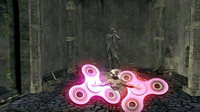 Pomoc! Fidget spinner se dostal už i do Dark Souls