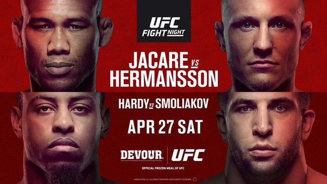 UFC Jacare vs Hermansson: výsledky