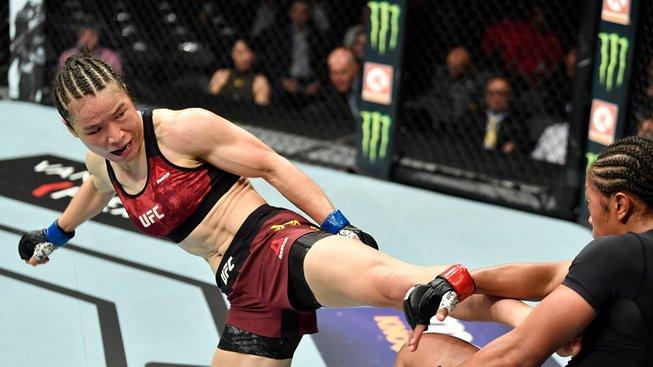 Zhang-Weili-defeats-Danielle-Taylor-UFC-227