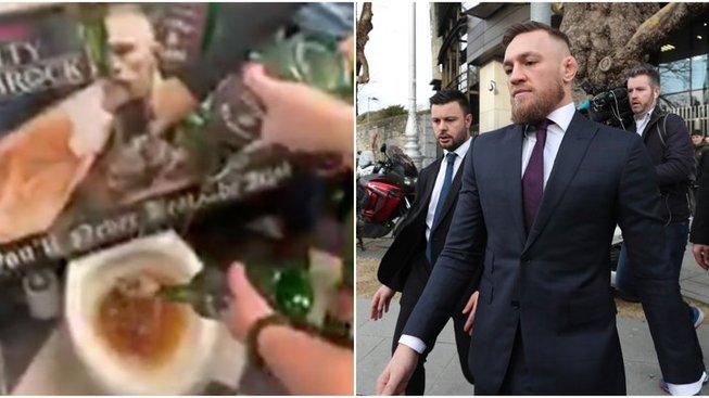 Personál irské hospody vylil McGregorovu whisky do záchodu