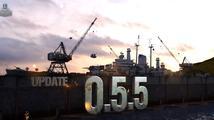 Update 0.5.5 zmenšil World of Warships a zároveň přidal počasí, zlepšil menu i mobilitu