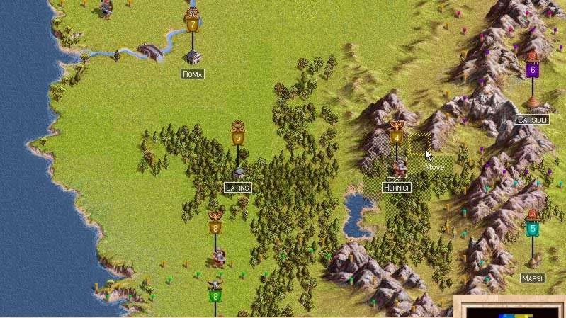 Římská tahová strategie Legion je hotova