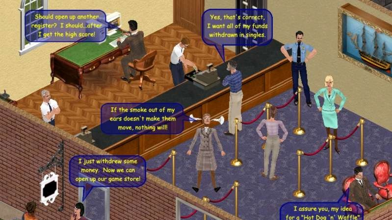 Celebrity a McDonald's v Sims Online