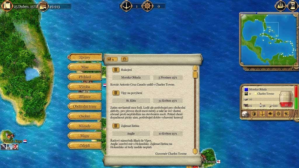 Port Royale CZ - recenze