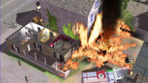 Hořící město ve Fire Deparment 2