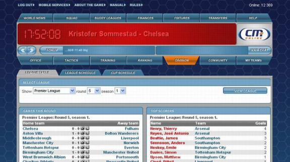 Ohlášení Championship Manager Online