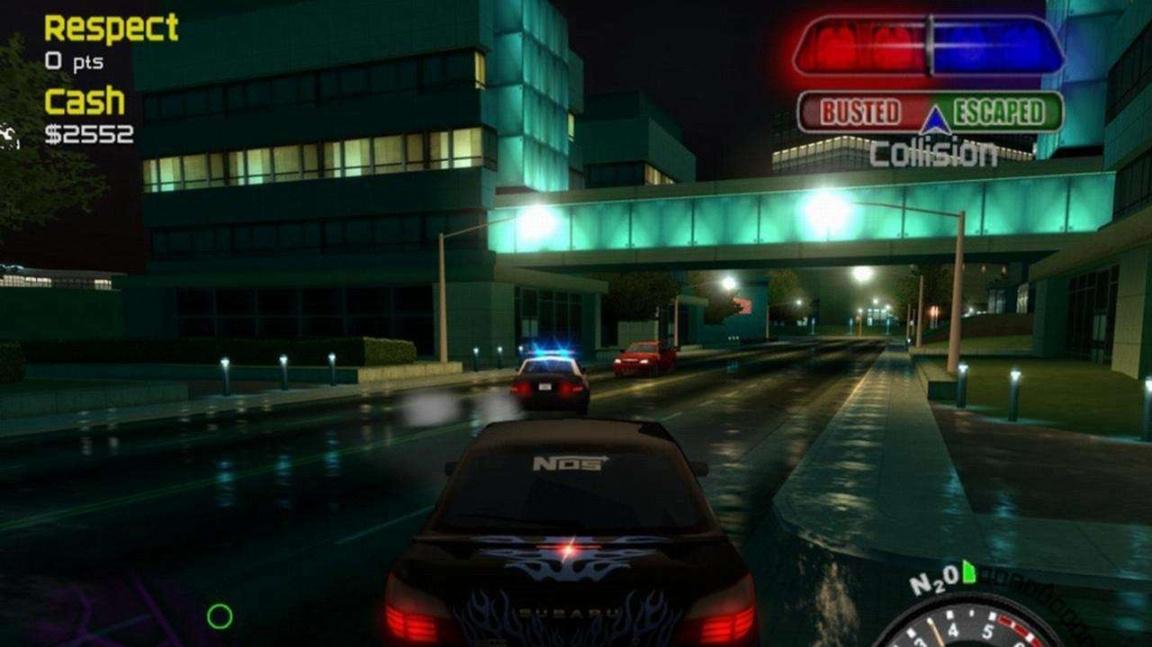 Jízda noční ulicí ve Street Racing Syndicate