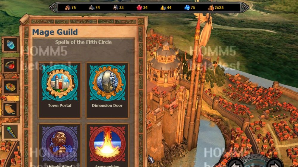 Česká homepage pro Heroes of Might & Magic V
